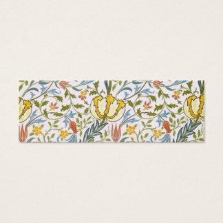 William Morris Flora Vintage Floral Art Nouveau Mini Business Card