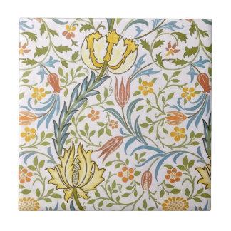 William Morris Flora Vintage Floral Art Nouveau Tile