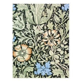William Morris floral design Postcard