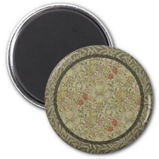 William Morris Floral lily willow art print design 2 Inch Round Magnet