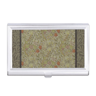 William Morris Floral lily willow art print design Business Card Holder
