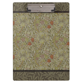 William Morris Floral lily willow art print design Clipboard