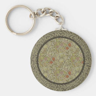 William Morris Floral lily willow art print design Keychain