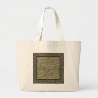 William Morris Floral lily willow art print design Large Tote Bag