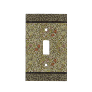William Morris Floral lily willow art print design Light Switch Cover