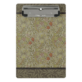 William Morris Floral lily willow art print design Mini Clipboard