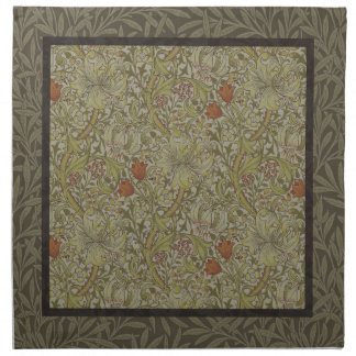 William Morris Floral lily willow art print design Napkin