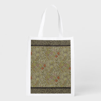 William Morris Floral lily willow art print design Reusable Grocery Bag