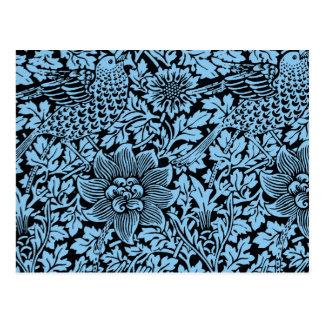 William Morris Floral Pattern Bird Flowers Postcard