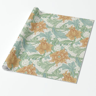 William Morris Floral Pattern Single Stem Wrapping Paper
