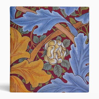 William Morris Floral Wallpaper Pattern 3 Ring Binder