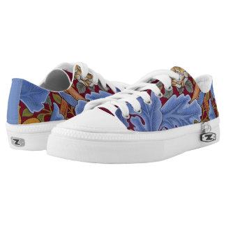 William Morris Floral Wallpaper Pattern Low-Top Sneakers