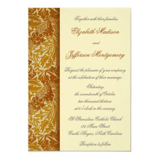 William Morris Gold Leaves Wedding Invitation
