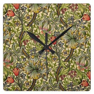 William Morris Golden Lily Clock