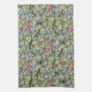 William Morris Golden Lily Floral Chintz Pattern Kitchen Towel