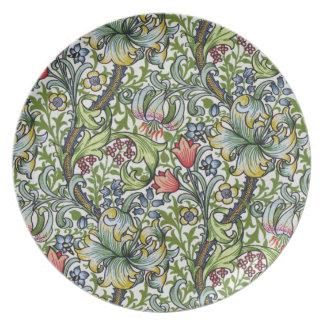 William Morris Golden Lily Floral Chintz Pattern Party Plate