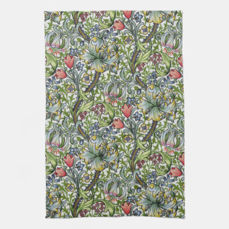 William Morris Golden Lily Floral Chintz Pattern Towel