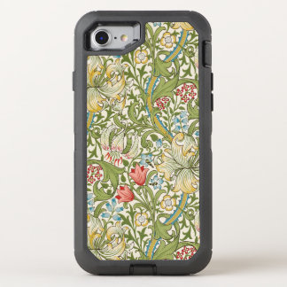 William Morris Golden Lily Floral OtterBox Defender iPhone 7 Case