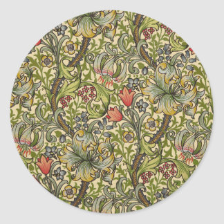 William Morris Golden Lily Round Sticker