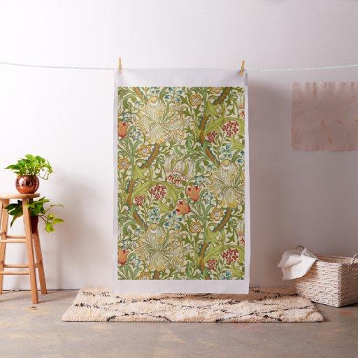William Morris Golden Lily Vintage Pre-Raphaelite Fabric