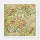 William Morris Golden Lily Vintage Pre-Raphaelite Paper Dinner Napkin