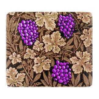 William Morris Grapevine, Brown and Purple Cutting Board