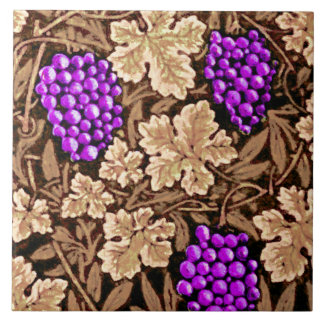 William Morris Grapevine, Brown and Purple Tile