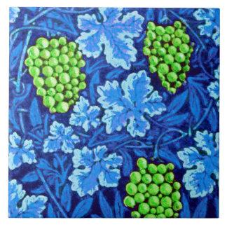 William Morris Grapevine, Cobalt Blue Ceramic Tile