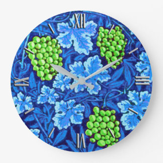 William Morris Grapevine, Cobalt Blue Large Clock