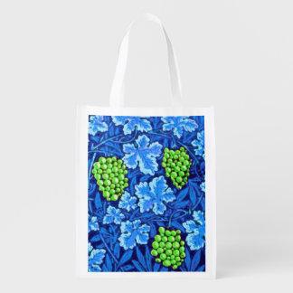 William Morris Grapevine, Cobalt Blue Reusable Grocery Bag