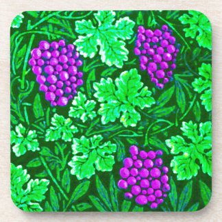 William Morris Grapevine, Purple and Green Beverage Coaster