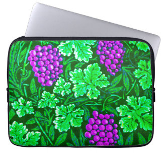William Morris Grapevine, Purple and Green Laptop Sleeve