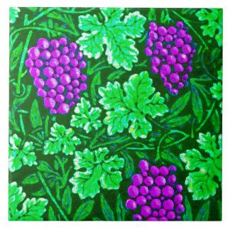 William Morris Grapevine, Purple and Green Tile