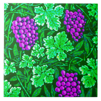 William Morris Grapevine, Purple and Green Tiles