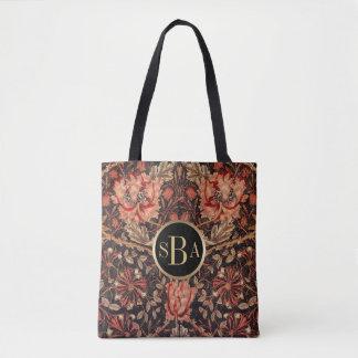 William Morris Honeysuckle Floral Pattern Tote Bag