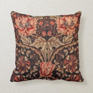 William Morris Honeysuckle Pattern Throw Pillow