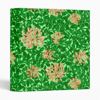 William Morris Honeysuckle, Peach and Green Vinyl Binder