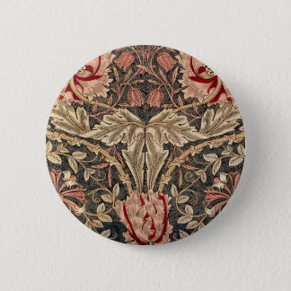 William Morris Honeysuckle Vintage Pattern 2 Inch Round Button
