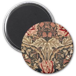 William Morris Honeysuckle Vintage Pattern 2 Inch Round Magnet