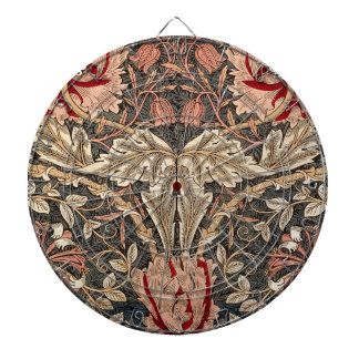 William Morris Honeysuckle Vintage Pattern Dartboard