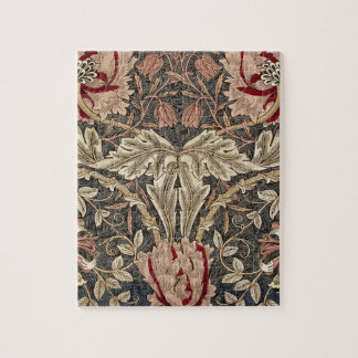 William Morris Honeysuckle Vintage Pattern Jigsaw Puzzle
