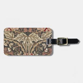 William Morris Honeysuckle Vintage Pattern Luggage Tag