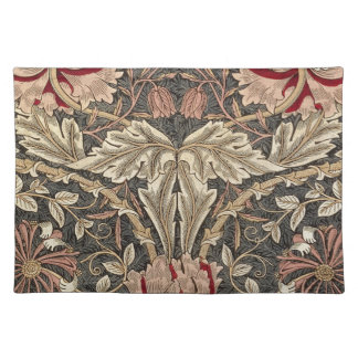 William Morris Honeysuckle Vintage Pattern Placemat