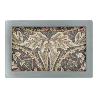 William Morris Honeysuckle Vintage Pattern Rectangular Belt Buckles