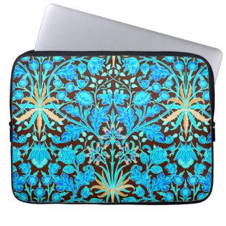 William Morris Hyacinth Print, Aqua and Brown Laptop Computer Sleeve