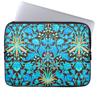 William Morris Hyacinth Print, Aqua and Brown Laptop Sleeve