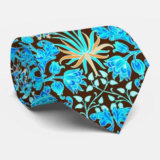 William Morris Hyacinth Print, Aqua and Brown Tie