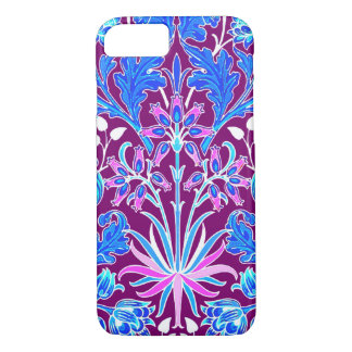 William Morris Hyacinth Print, Aqua and Purple iPhone 8/7 Case
