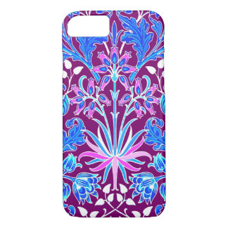 William Morris Hyacinth Print, Aqua and Purple iPhone 8/7 Case