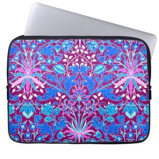 William Morris Hyacinth Print, Aqua and Purple Laptop Sleeve